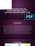 Configuración Del Switching de Capa 3 y Routing