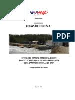 Seajoy Group Camaronera Colas de Oro s.a. Estudio de Impacto Ambiental Exante Proyecto Ampliacion Del Area Productiva de La Camaronera Colas de Oro