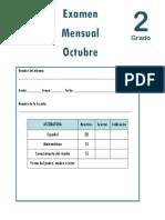 Octubre - 2do Grado - Examen Mensual (2018-2019).pdf