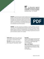 La Dimension Regional De Las Aglomeraciones Urbanas Brasil