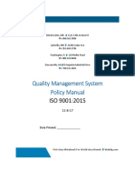 BTD Quality System Policy Manual