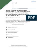 Producci n Biotecnol Gica de Acido l Ctico Estado Del Arte Biotechnological Production of Lactic Acid State of the Art Producci n Biotecnol Xica De