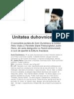 27048721 Sorin Dumitrescu Despre Unitatea Duhovniceasca