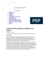Autonomic Dysreflexia in Spinal Cord Injury Overview, Pathophysiology, Causes of Autonomic Dysreflexia