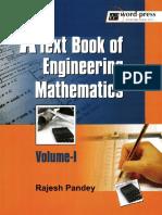 Pandey R.-A Textbook Of Engineering Mathematics. Volume 1.pdf