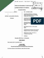 Jeffrey Alexander Sterling Indictment