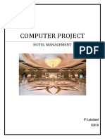 Class XII Computer Project - Hotel Management