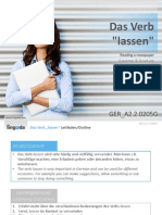 GER A2.2.0205G the Verb Lassen