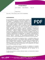 Informe Medico Blanco
