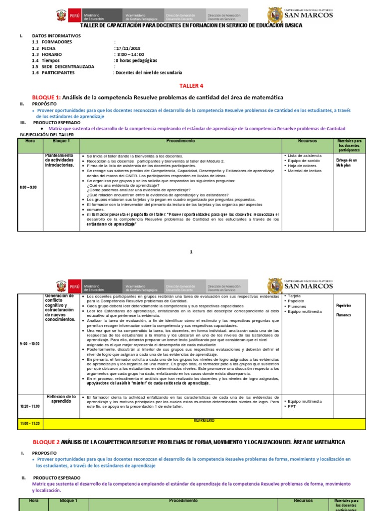 Ruta Bloque I Y Bloque Ii Taller Iv Modulo 2 Aprendizaje