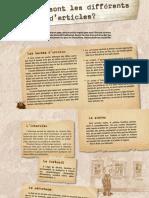 Les Differents Types D-Articles