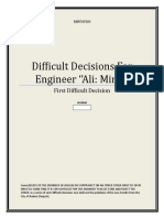 SOME DIFFICULT  DECISIONS FOR ENGINEER MUHAMMAD ALI MIRZA OF JHELUM