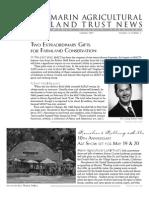 Summer 2007 Marin Agricultural Land Trust Newsletter