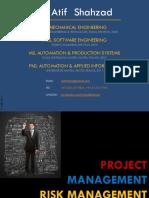 Dr Atif Shahzad Sys Management Lecture 10 Risk Management Fmea Vmea