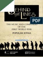 Ww1 Popular Songs Resource Pack