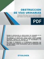 Obstrucción de Vías Urinarias