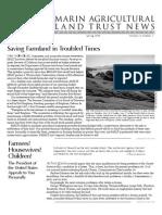 Spring 2009 Marin Agricultural Land Trust Newsletter