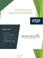 Micro Serviços com Spring Cloud e Docker