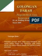 Golongan Darah. (PSIK B 2010-2011)