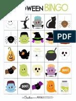 Halloween Bingo Cards Family Set