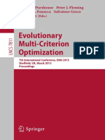 2013 - Purshouse et al. - Evolutionary Multi-Criterion Optimization