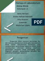 Ppt K3 Identifikasi Bahaya Di Laboratorium Kimia Klinik