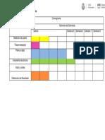 Cronograma de Actiidades de Realizacion de Plataforma Norte