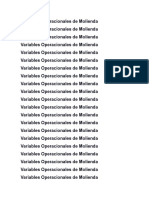 Variables Operacionales de Molienda