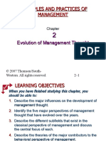 Ch02 Evolutionof Management Thought