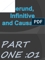 Gerund infinitive and causative