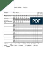 data collection form for portfolio