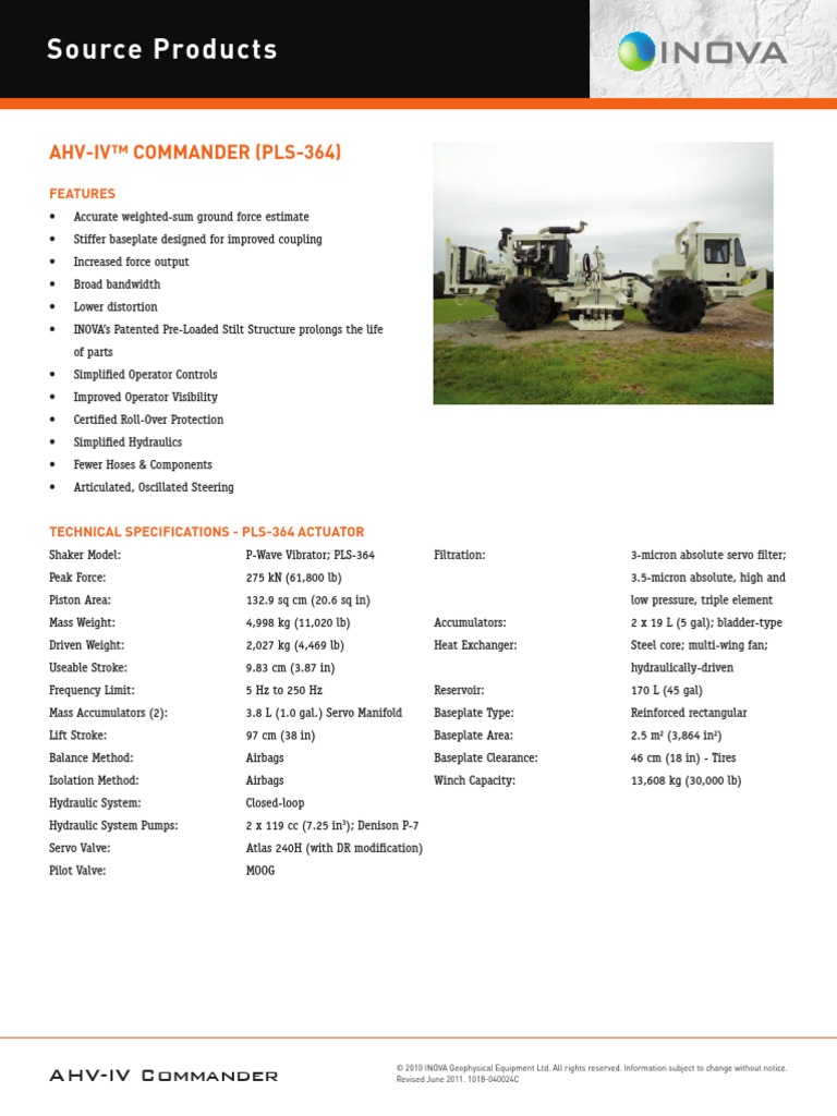 AHV IV Commander Datasheet | Engines | Automotive Industry