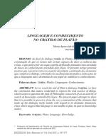 Linguagem e conhecimento no Crátilo de Platão.pdf