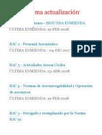 RAC Fecha Última Actualización