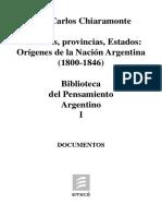 Tomo I - Chiaramonte - Origenes de la Nacion Argentina (1800-1846).pdf