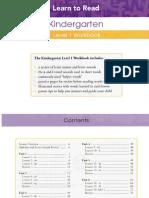 Kindergarden Level 1 Workbook