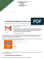 10 useful Gmail settings you'll wish you knew sooner.pdf