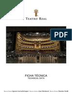 Ficha Tecnica Teatro Real Madrid