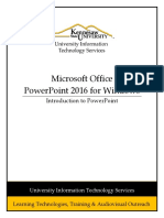 0479 Introduction to Powerpoint 2016