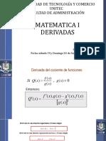CLASE 7 Derivadas