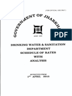 Drinking Water & Sanitation Department, Govt of Jharkahnd Schedule of Rates
