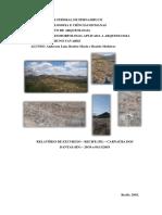 Relatório Geoarqueologia - Carnaúba dos Dantas