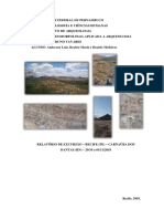 Relatório Geomorfologia e Arqueologia