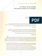 Un balance de los estudios sobre partidos políticos en Colombia