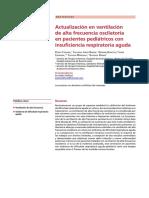Actualización en ventilación de alta frecuencia oscilatoria en pacientes pediátricos con insuficiencia respiratoria aguda