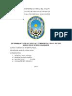 Ventajas comparativas respecto al sector minero en la región de Cajamarca
