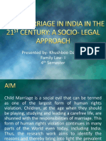 Child Marriage in India in the 21st Century