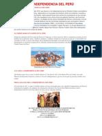 Resumen Del Día de La Independencia Del Perú