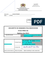 Descriptif Filiere Marketing Et Action Commerciale ENCG-settat 2014
