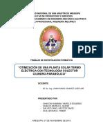 Otimización de Una Planta Solar Termo Eléctrica Con Tecnología Colector Cilindro-parabólico